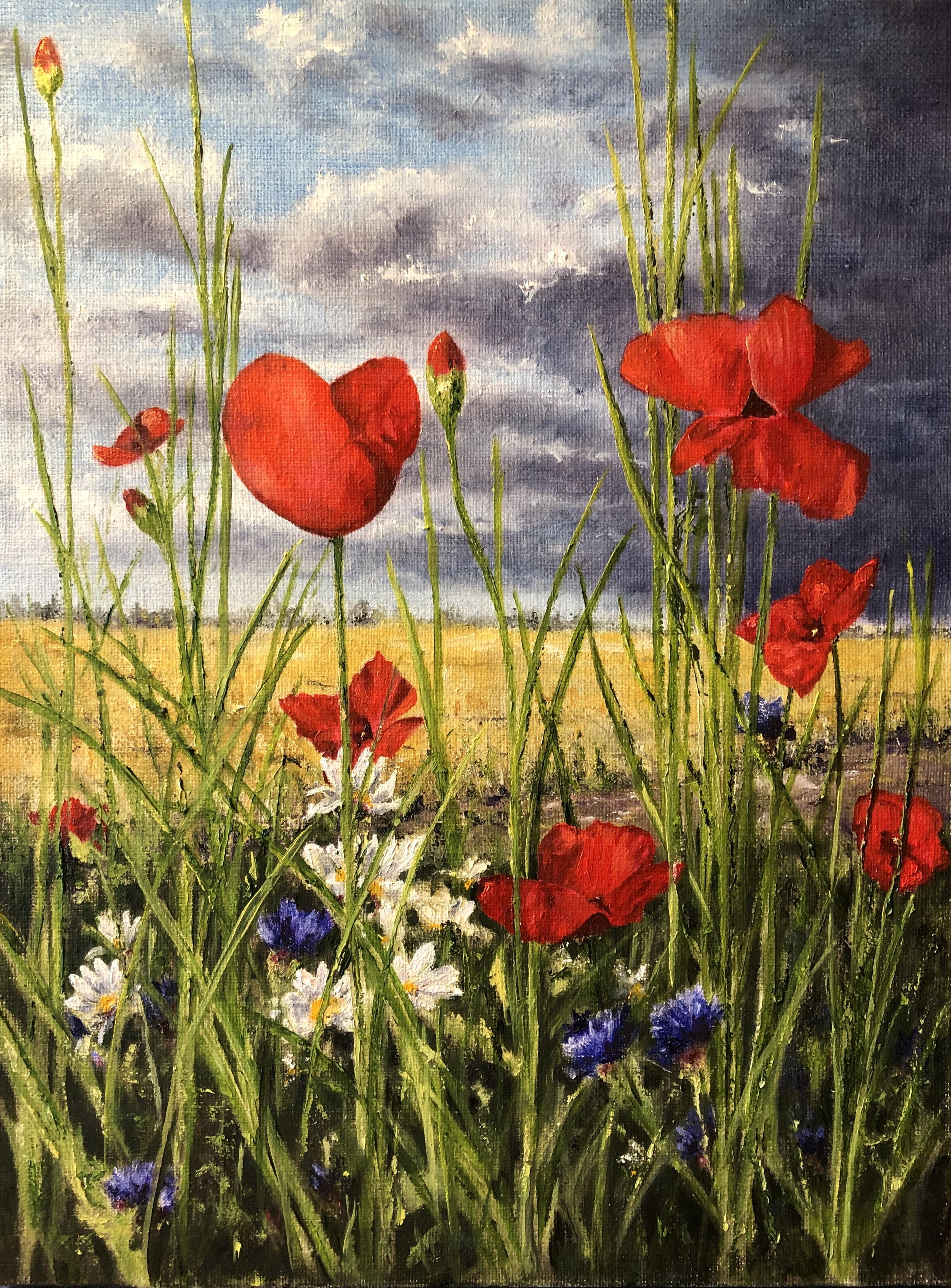 Blommande ogräs - 702