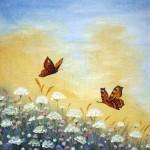Fjärilar på sommaräng - 022