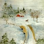 Rådjur i juletid - 048