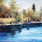 Rödmålad båt - 108