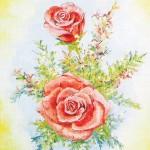 Bukett med rosor - 209