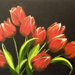 En bukett med röda tulpaner - 546