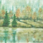 Granar vid sjön - 384